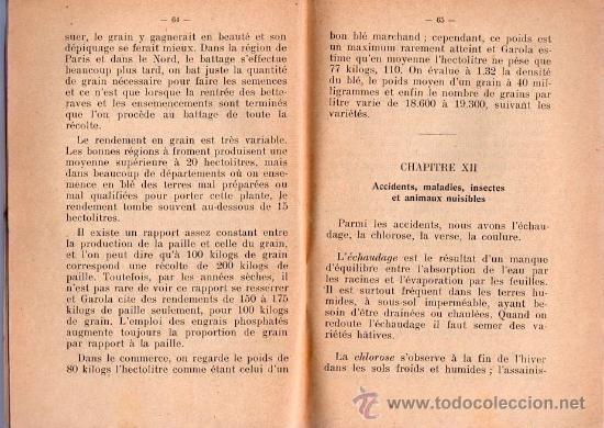 Libros antiguos: LE BLE POR A. PAIREMAURE - Foto 5 - 25405757