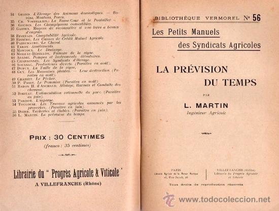 Libros antiguos: LA PREVISION DU TEMPS POR L.MARTIN - Foto 2 - 25405843