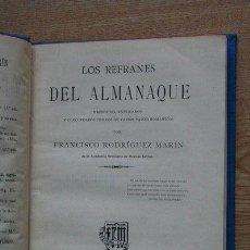 Libros antiguos: LOS REFRANES DEL ALMANAQUE RECOGIDOS, EXPLICADOS Y CONCORDADOS CON LOS DE VARIOS PAÍSES ROMÁNICOS.. Lote 25434915