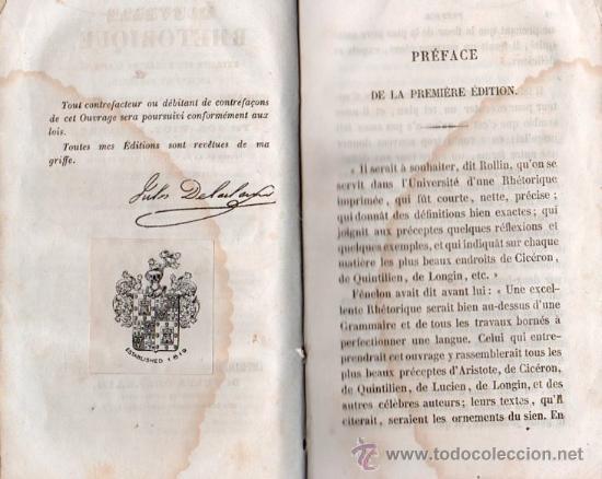 Libros antiguos: RHETORIQUE DE JOS - VICT. LE CLERC AÑO 1850 - Foto 3 - 25424924
