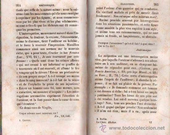 Libros antiguos: RHETORIQUE DE JOS - VICT. LE CLERC AÑO 1850 - Foto 6 - 25424924