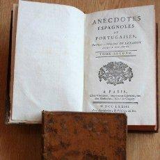 Libros antiguos: ANECDOTES ESPAGNOLES ET PORTUGAISES, DEPUIS L'ORIGINE DE LA NATION JUSQU'À NOS JOURS.. Lote 25523456