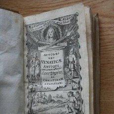 Libros antiguos: CAZA.- ULITIUS (JANUS) AUCTORES REI VENATICAE ANTIQUI. DEDICATORIA A LA REINA CRISTINA DE SUECIA.... Lote 25571981