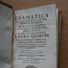 Libros antiguos: GRAMATICA DELLA LINGUA LATINA. PORRETI (FERDINANDO). Lote 25572028