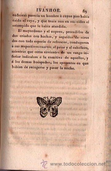 Alte Bücher: IVANHOE. REGRESO A PALESTINA - WALTER SCOTT 1831 TOMO I DE UN CLASICO - Foto 2 - 25568325