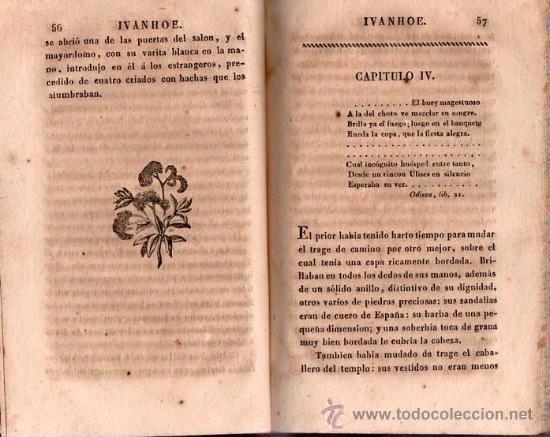 Alte Bücher: IVANHOE. REGRESO A PALESTINA - WALTER SCOTT 1831 TOMO I DE UN CLASICO - Foto 7 - 25568325