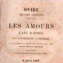Libros antiguos: OVIDIO, EL ARTE DE AMAR. EN FRANCES 1860. Lote 25596537