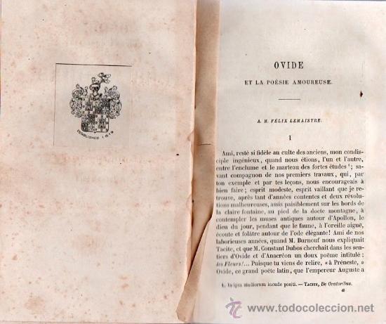 Libros antiguos: OVIDIO, EL ARTE DE AMAR. EN FRANCES 1860 - Foto 4 - 25596537