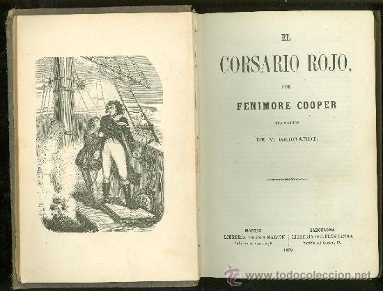 EL CORSARIO ROJO. FENIMORE COOPER. 1859. (Alte, seltene und kuriose Bücher - Literatur - Andere Literatur)