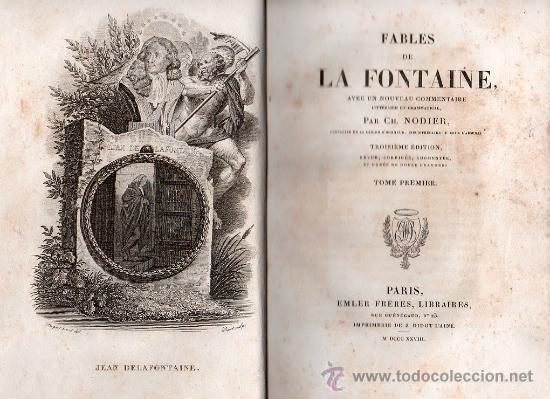 FABULAS DE LA FONTAINE. PARIS 1828 - 2 TOMOS (Libros Antiguos, Raros y Curiosos - Literatura - Otros)