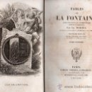 Libros antiguos: FABULAS DE LA FONTAINE. PARIS 1828 - 2 TOMOS. Lote 27208044