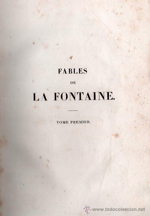 Libros antiguos: FABULAS DE LA FONTAINE. PARIS 1828 - 2 TOMOS - Foto 4 - 27208044