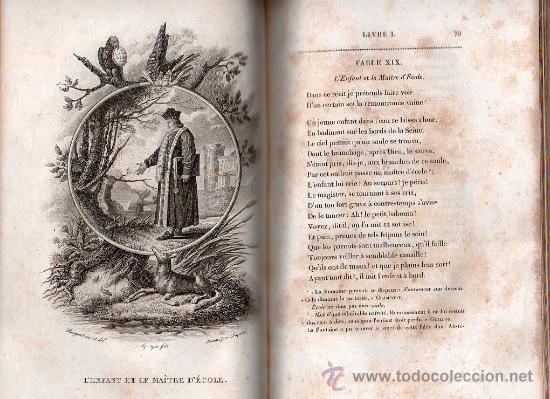 Libros antiguos: FABULAS DE LA FONTAINE. PARIS 1828 - 2 TOMOS - Foto 10 - 27208044