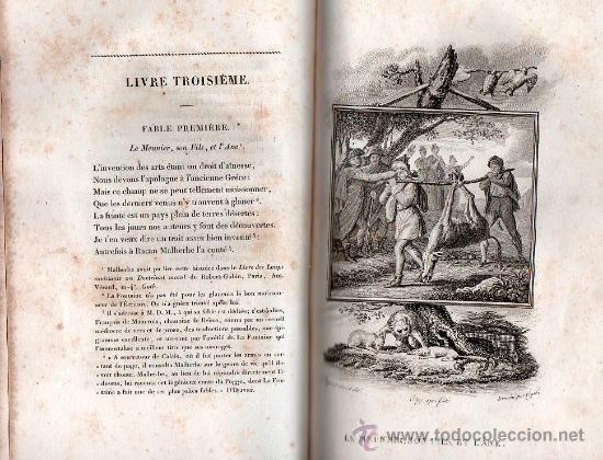 Libros antiguos: FABULAS DE LA FONTAINE. PARIS 1828 - 2 TOMOS - Foto 9 - 27208044