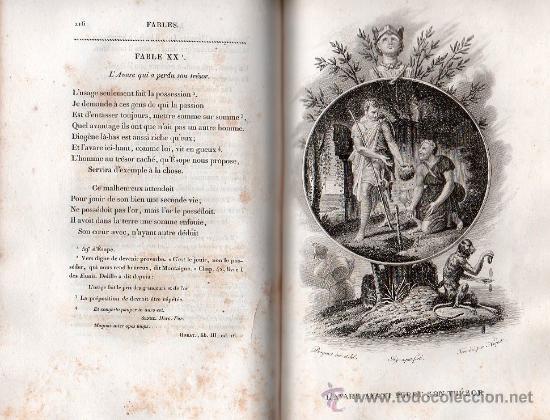 Libros antiguos: FABULAS DE LA FONTAINE. PARIS 1828 - 2 TOMOS - Foto 8 - 27208044