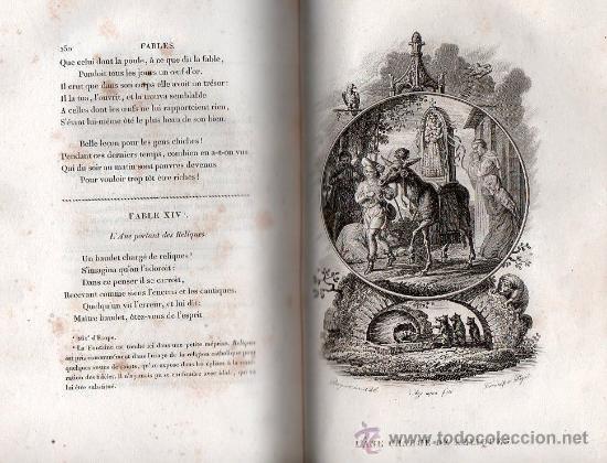 Libros antiguos: FABULAS DE LA FONTAINE. PARIS 1828 - 2 TOMOS - Foto 6 - 27208044