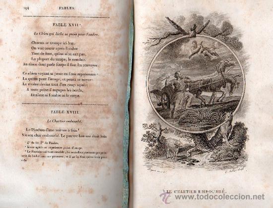 Libros antiguos: FABULAS DE LA FONTAINE. PARIS 1828 - 2 TOMOS - Foto 3 - 27208044