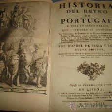 Libros antiguos: HISTORIA DEL REINO DE PORTUGAL - 1779 POR MANUEL DE FARIA. Lote 25876169