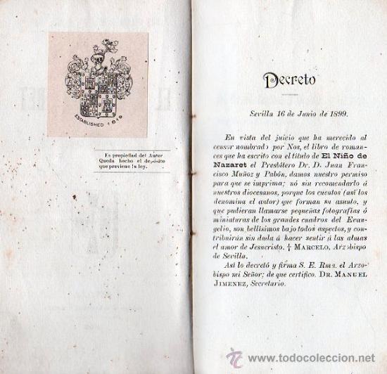 Libros antiguos: EL NIÑO DE NAZARET. 1899 - SEVILLA, ROMANCERO - Foto 3 - 25877881