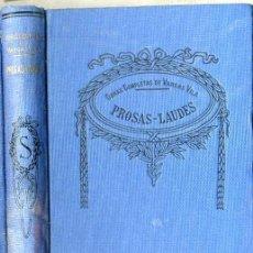 Libros antiguos: VARGAS VILA : PROSAS - LAUDES. Lote 25949648