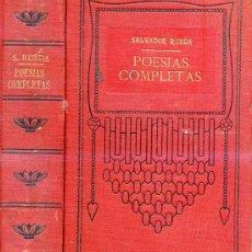 Libros antiguos: SALVADOR RUEDA : POESÍAS COMPLETAS (1912). Lote 25954467