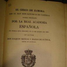 Libros antiguos: EL CERCO DE ZAMORA 1833. IMPRENTA REAL - MUY RARO. Lote 25962206