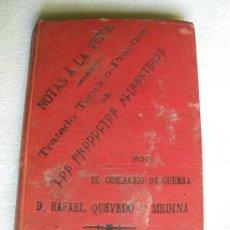 Libros antiguos: TRATADO TEORICO-PRACTICO DE LOS PRODUCTOS ALIMENTICIOS. RAFAEL QUEVEDO Y MEDINA. 1894.. Lote 25965578
