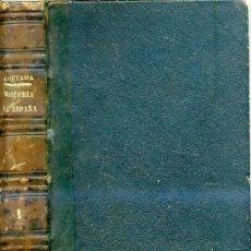 Libros antiguos: CORTADA : HISTORIA DE ESPAÑA TOMO I (1872) ABUNDANTES GRABADOS. Lote 25973986