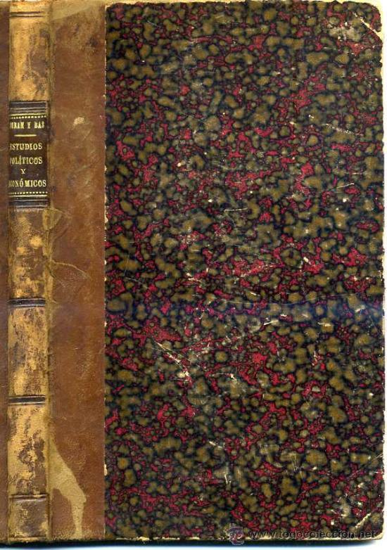 MANUEL DURÁN Y BAS : ESTUDIOS POLÍTICOS Y ECONÓMICOS (1856) (Libros Antiguos, Raros y Curiosos - Pensamiento - Otros)