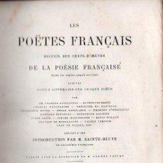 Libros antiguos: LES POETES FRANCAIS / LOS POETAS FRANCESES. 4 TOMOS - PARIS 1861. Lote 26359002