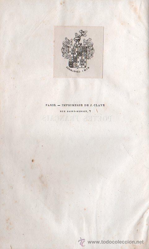 Libros antiguos: LES POETES FRANCAIS / LOS POETAS FRANCESES. 4 TOMOS - PARIS 1861 - Foto 6 - 26359002
