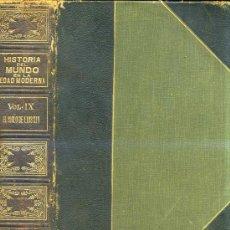 Libros antiguos: CAMBRIDGE: EL MUNDO EN LA EDAD MODERNA IX - EL SIGLO DE LUIS XIV 1 (1913). Lote 26392528