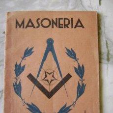 Libros antiguos: MASONERIA.536. Lote 26393362
