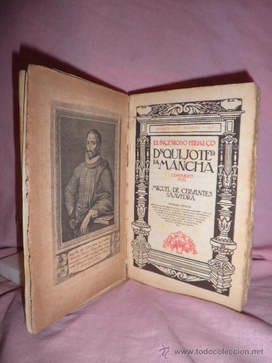 DON QUIJOTE DE LA MANCHA - CERVANTES - AÑO 1915 - DECORADA POR LABARTA. (Libros Antiguos, Raros y Curiosos - Literatura - Otros)