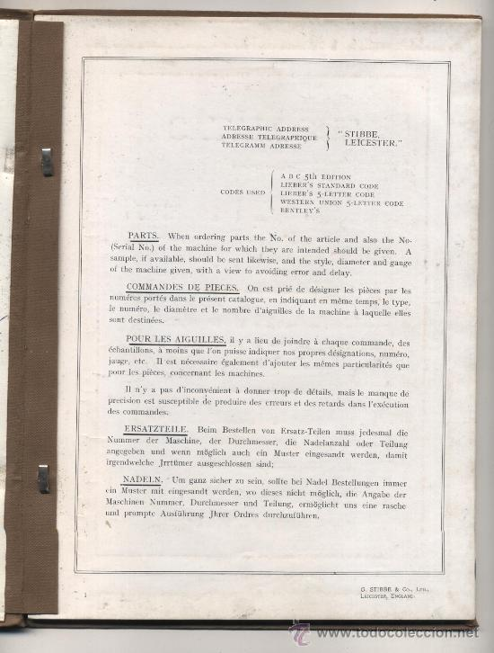 Libros antiguos: G. Stibbe & Co. Ltd. Catáogo de piezas para maquinaria. Interesante - Foto 2 - 26415995