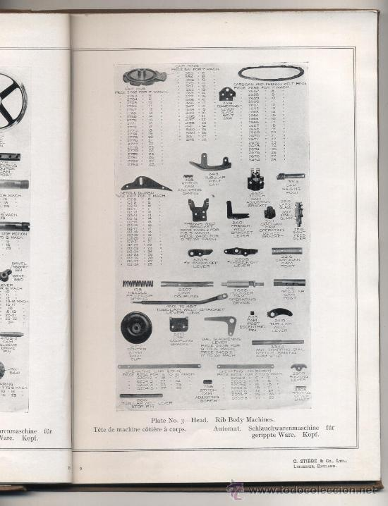 Libros antiguos: G. Stibbe & Co. Ltd. Catáogo de piezas para maquinaria. Interesante - Foto 3 - 26415995