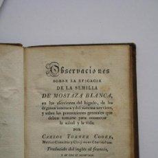 Libros antiguos: MEDICINA.1829.OBSERVACIONES SOBRE LA EFICACIA DE LA SEMILLA DE MOSTAZA. AFECCIONES DEL HIGADO.. Lote 26491977