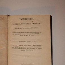 Libros antiguos: LIBRO ANTIGUO. 1826. IMPRENTA REAL. INSTRUCCIÓN SOBRE EL REGIMEN DE LA CRIA DE CABALLOS. EQUITACIÓN.. Lote 26492969