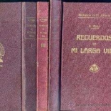 Libros antiguos: CONRADO ROURE : RECUERDOS DE MI LARGA VIDA (1925) TRES TOMOS MUY ILUSTRADOS. Lote 61413758