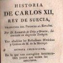 Libros antiguos: HISTORIA DE CARLOS XII REY DE SUECIA. 2 TOMOS - MADRID 1794. Lote 26723147