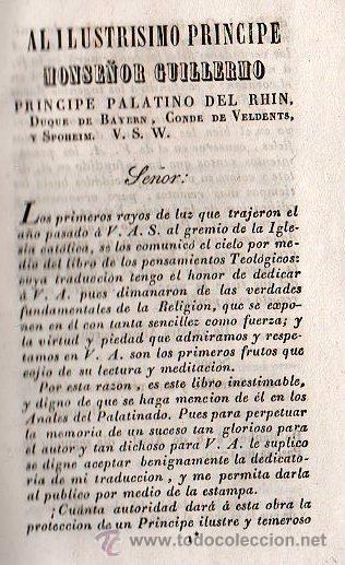 Libros antiguos: PENSAMIENTOS TEOLOGICOS POR NICOLAS JAMIN. TRADUCIDO AL ESPAÑOL - GERONA 1842 - Foto 3 - 26718343