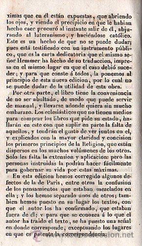 Libros antiguos: PENSAMIENTOS TEOLOGICOS POR NICOLAS JAMIN. TRADUCIDO AL ESPAÑOL - GERONA 1842 - Foto 2 - 26718343