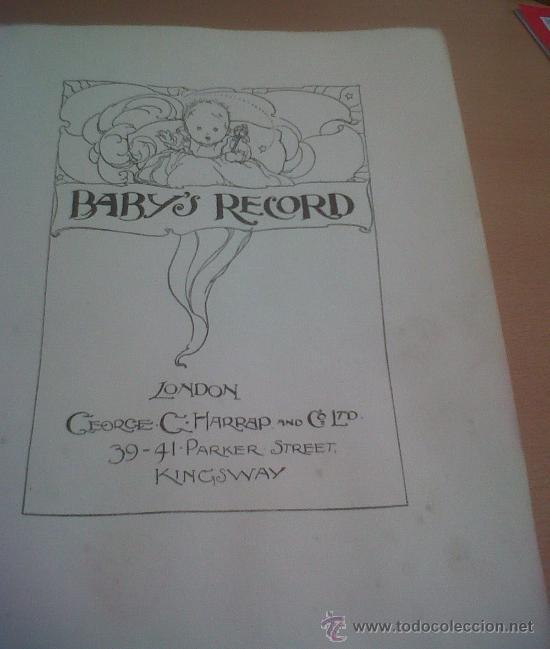 Libros antiguos: PRECIOSO LIBRO BABY´S RECORD ILUSTRACIONES ANNE ANDERSON GEORGE KARRAF & CO LONDON 1928 - Foto 3 - 26937739