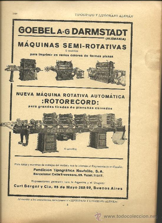 Libros antiguos: L15-16 EL TIPOGRAFO Y LITOGRAFO ALEMAN - Edicion Española de 1926 - Publicacion Anual (VER) - Foto 4 - 27077729