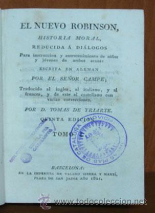 Libros antiguos: EL NUEVO ROBINSON. HISTORIA MORAL REDUCIDA A DIALOGOS PARA INSTRUCCIÓN DE NIÑOS... 1821. TOMO I. - Foto 2 - 27188490