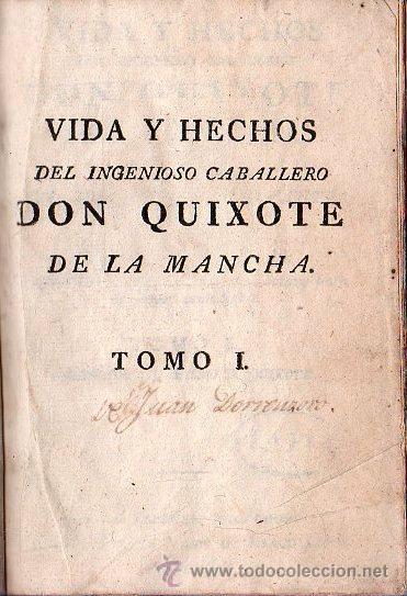 VIDA Y HECHOS DEL INGENIOSO CABALLERO DON QUIJOTE DE LA MANCHA. 4 TOMOS - MADRID 1808 (Libros Antiguos, Raros y Curiosos - Literatura - Otros)