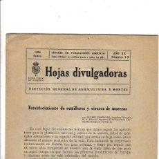 Libros antiguos: 1926 * ESTABLECIMIENTO SEMILLEROS VIVEROS DE MORERAS / FRAUDE EN ANIMALES / ORUJOS MANZANA. Lote 27311222