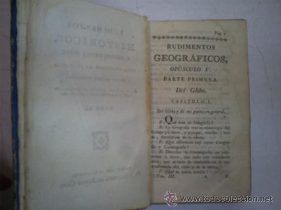 Libros antiguos: Rudimentos Históricos método fácil para instruirse la juventud noticias históricas 3 1789 RM51968-V - Foto 3 - 27685954