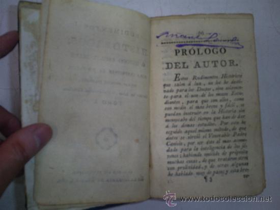 Libros antiguos: RUDIMENTOS HISTÓRICOS MÉTODO FÁCIL PARA INSTRUIRSE LA JUVENTUD NOTICIAS HISTÓRICAS 1 1789 RM51967-V - Foto 4 - 27685968
