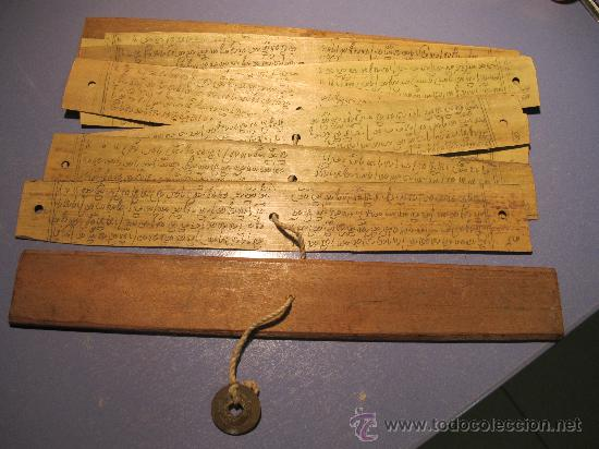 Libro antiguo tablillas de madera con escritu comprar for Libros antiguos para decoracion